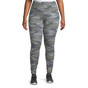 3X-5X Candy Pink Camouflage Plus Size Leggings